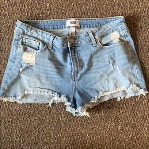 Paige Denim Distressed Shorts
